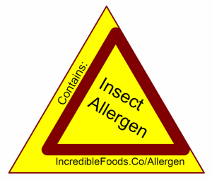 Insect allergen warning