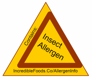 Insect Allergen Warning Entomophagy
