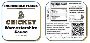 cricket Worcestershire sauce condiment