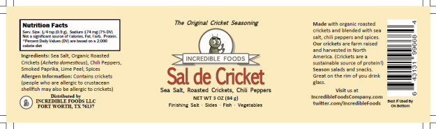 Capture sal de cricket draft label