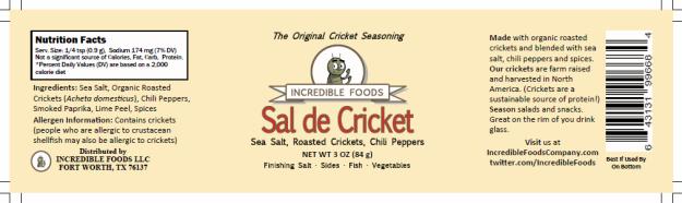Capture sal de cricket draft label